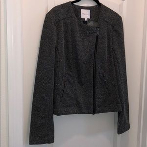 Catherine Malandrino grey jacket with large zipper